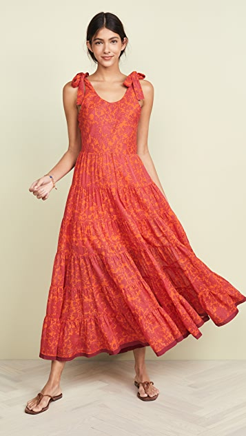 Free People Миди-платье с принтом Kika's