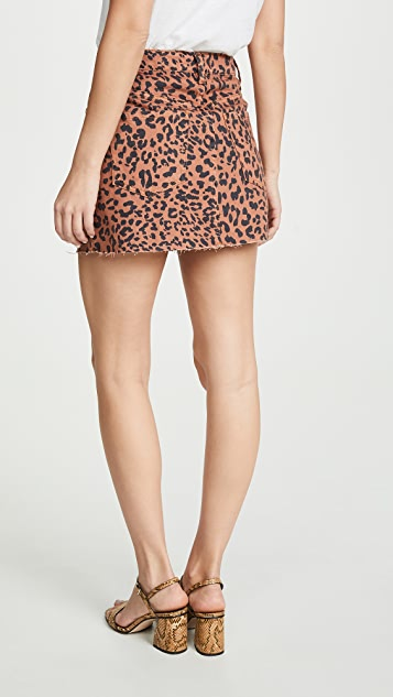Free People Zip It Up Printed Miniskirt
