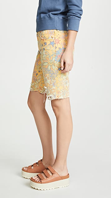 Free People Alani Printed Cutoff Shorts