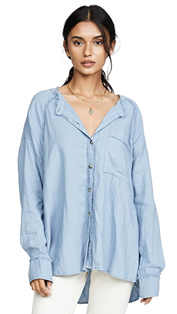Free People Keep It Simple Button Down