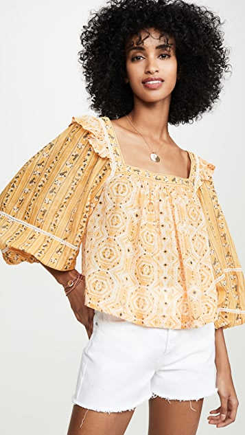 Free People Блуза Mostly Meadow