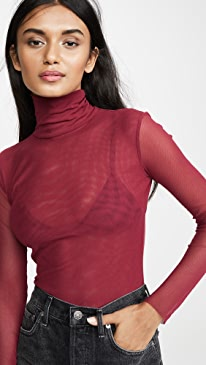 Double Layer Mesh Turtleneck