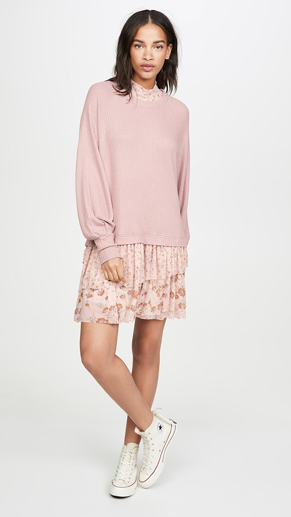 Combo Sweater Dress