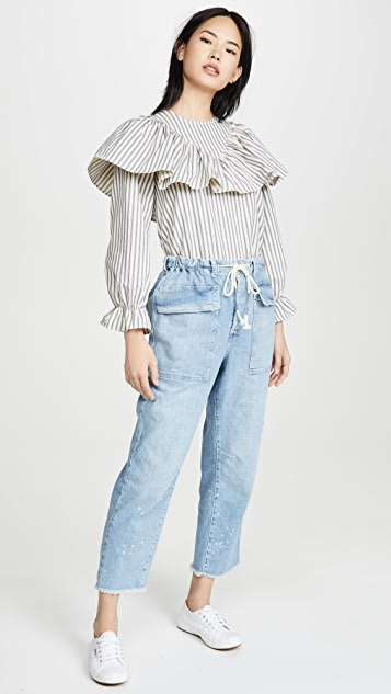 Free People Зауженные джинсы с напуском City