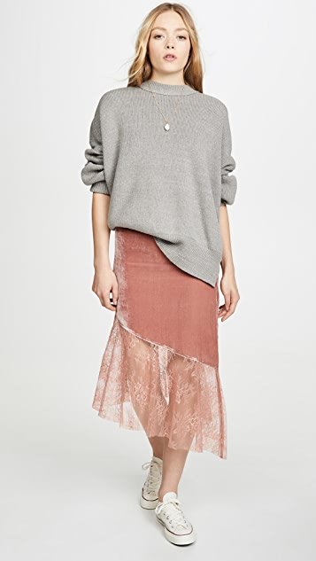 Free People My Lacey Midi Skirt