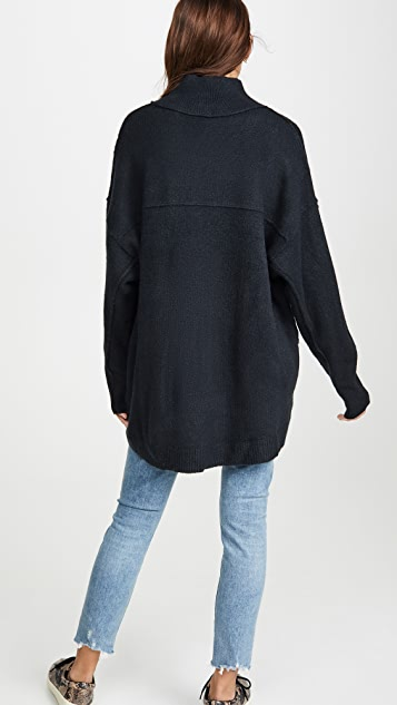 Free People Afterglow Mock Neck Sweater
