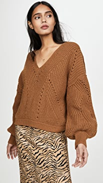 All Day Long V Neck Sweater
