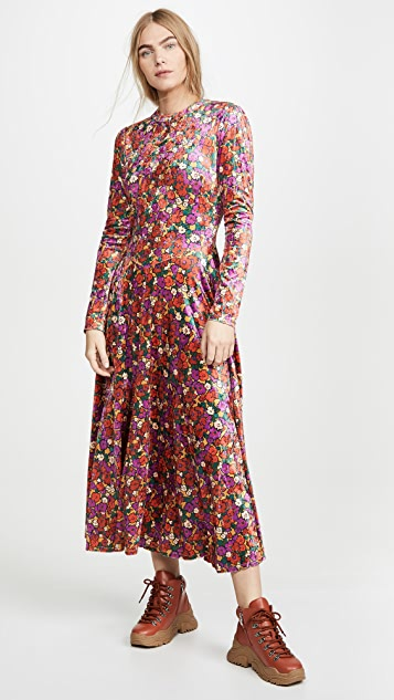 Free People Dresses Heartland Velvet Midi Dress