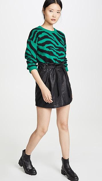 Free People Faux Leather Payton Paperbag Miniskirt