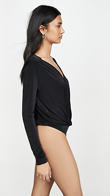 Free People Turnt Thong Bodysuit