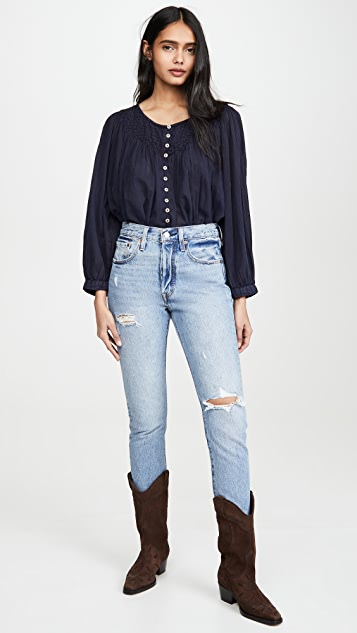 Free People Cool Meadow Button Down