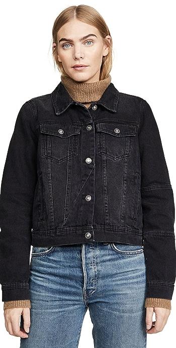 Free People Rumors Denim Jacket - Black