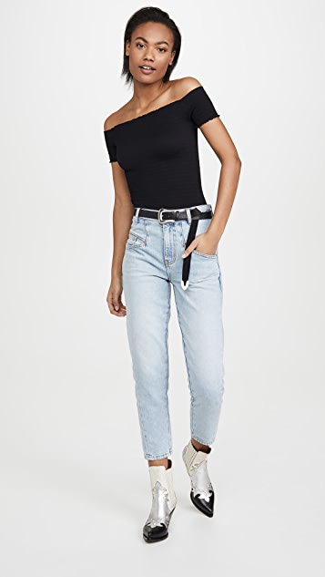 Free People Moulin Ruched Top