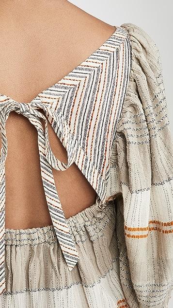 Free People Cozy Striped Mini Dress