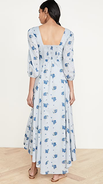 Free People Миди-платье Sea Glass