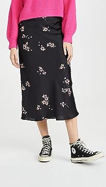 Normani Bias Printed Skirt