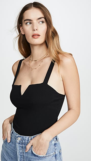 Free People Pippa V Wire Thong Bodysuit