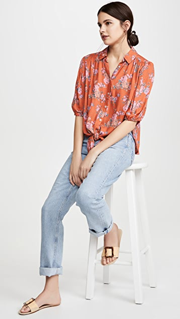 Free People Celia Printed Blouse