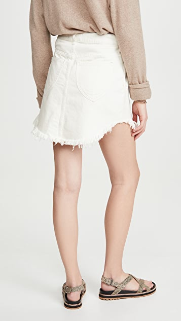 Free People Bailey Denim Miniskirt