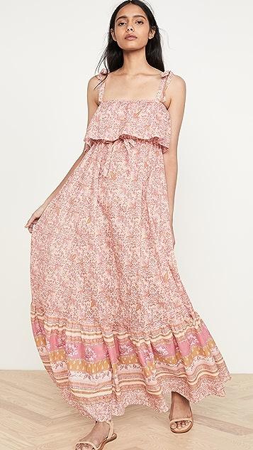 Free People Tangier Babydoll Midi Dress
