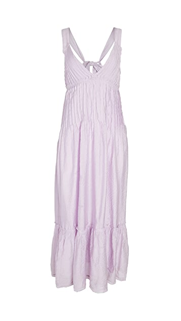 Free People Frankie Pintuck Maxi Dress