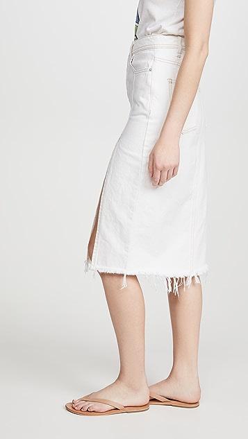 Free People Mambo Denim Midi Skirt