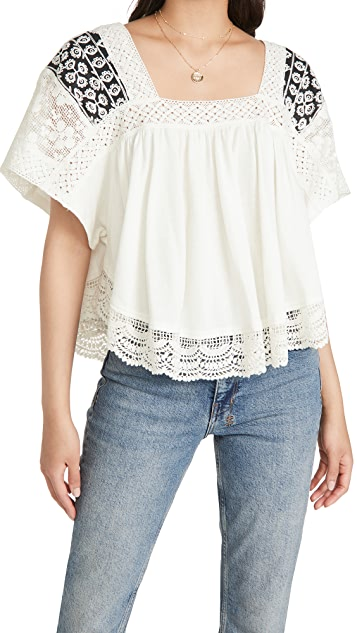 Free People Prairie Days 上衣
