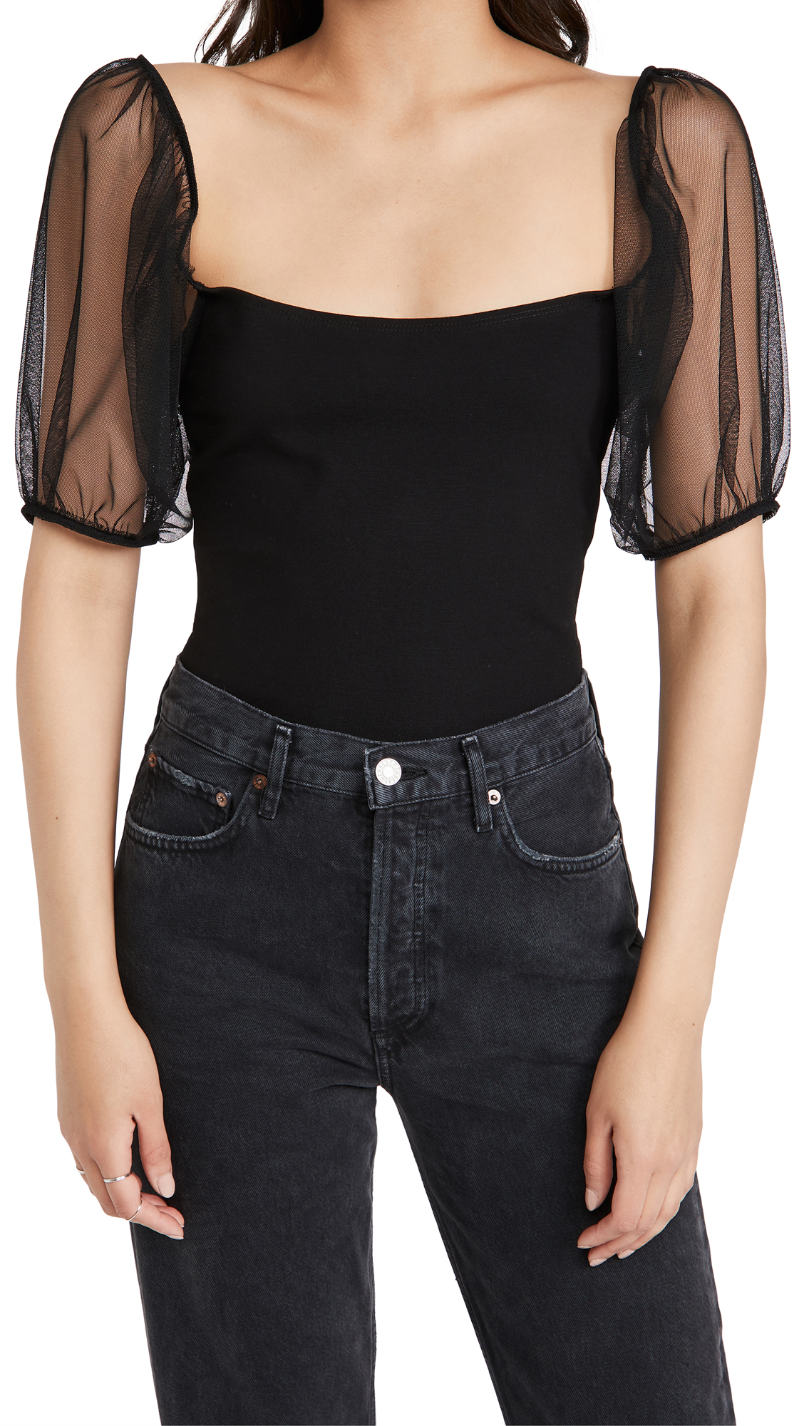 Free People Puff Sleeve Cami Top