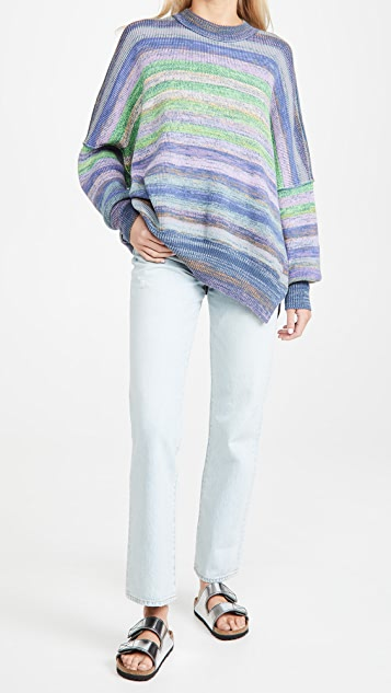 Free People Easy Street Space Dye Sweater