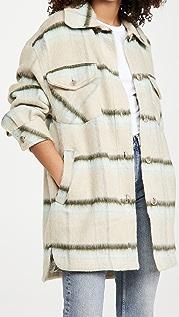 Free People Vienna Brushed Wool Shirt Jacket