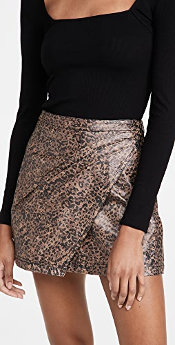 Free People - Printed Fake Out Faux Wrap Skirt