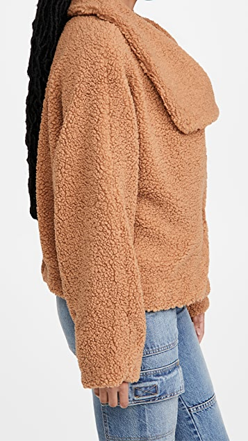 Free People Izzy Wrap Teddy 夹克