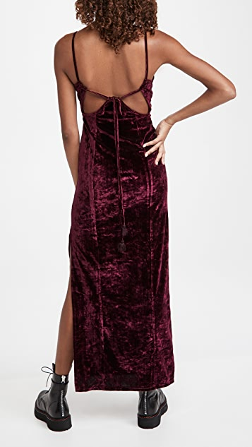 Free People Low Key Crushin' Velvet Dress