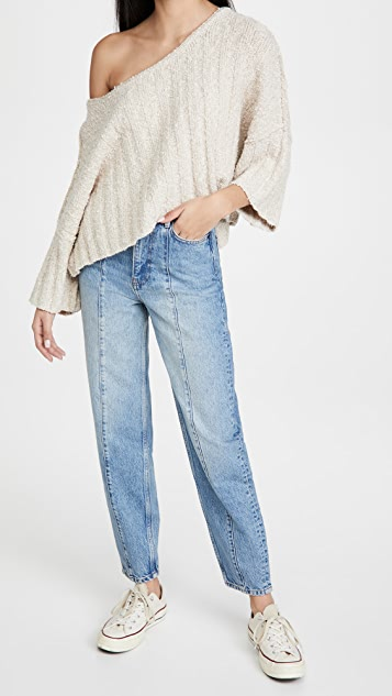 Free People Good Day Cropped Pullover