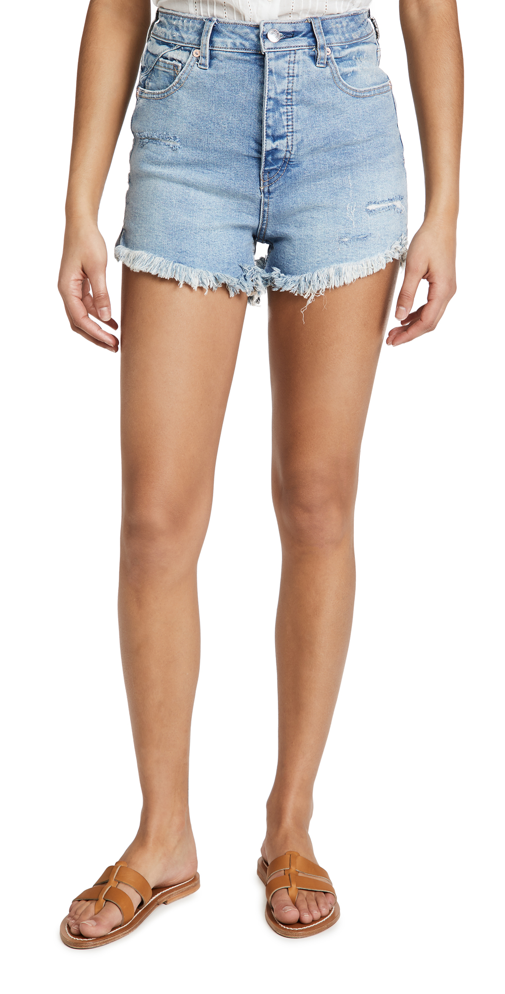 Free People Curvy Vintage High Rise Shorts