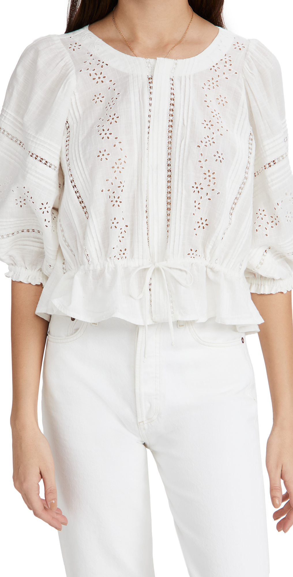 Free People Daisy Chains Eyelet Top