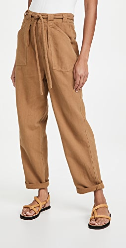 Free People - Lights Down Rolled Straight Trousers