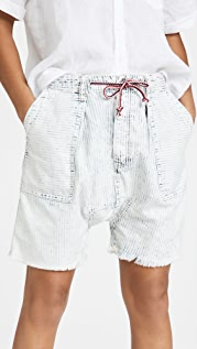 Free People Easy Rider Long Rise Shorts