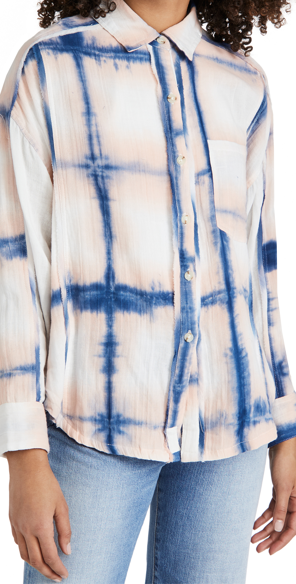 Free People We The Free Washed Away Plaid Top
