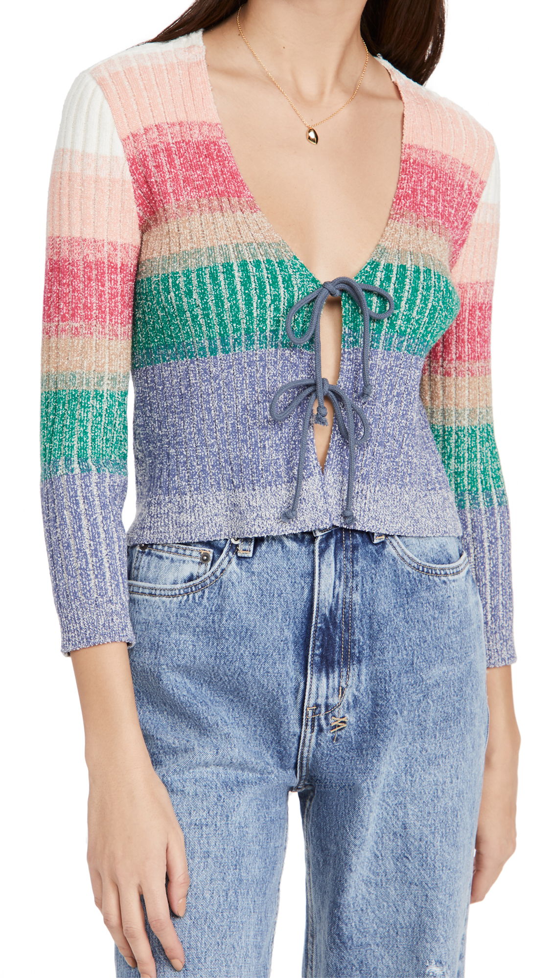 Free People Cottons TROUBLE MAKER CARDIGAN