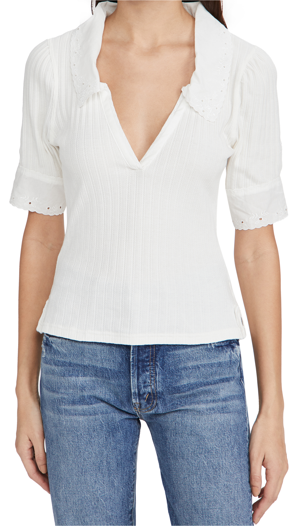 Free People Cottons ROXY TOP
