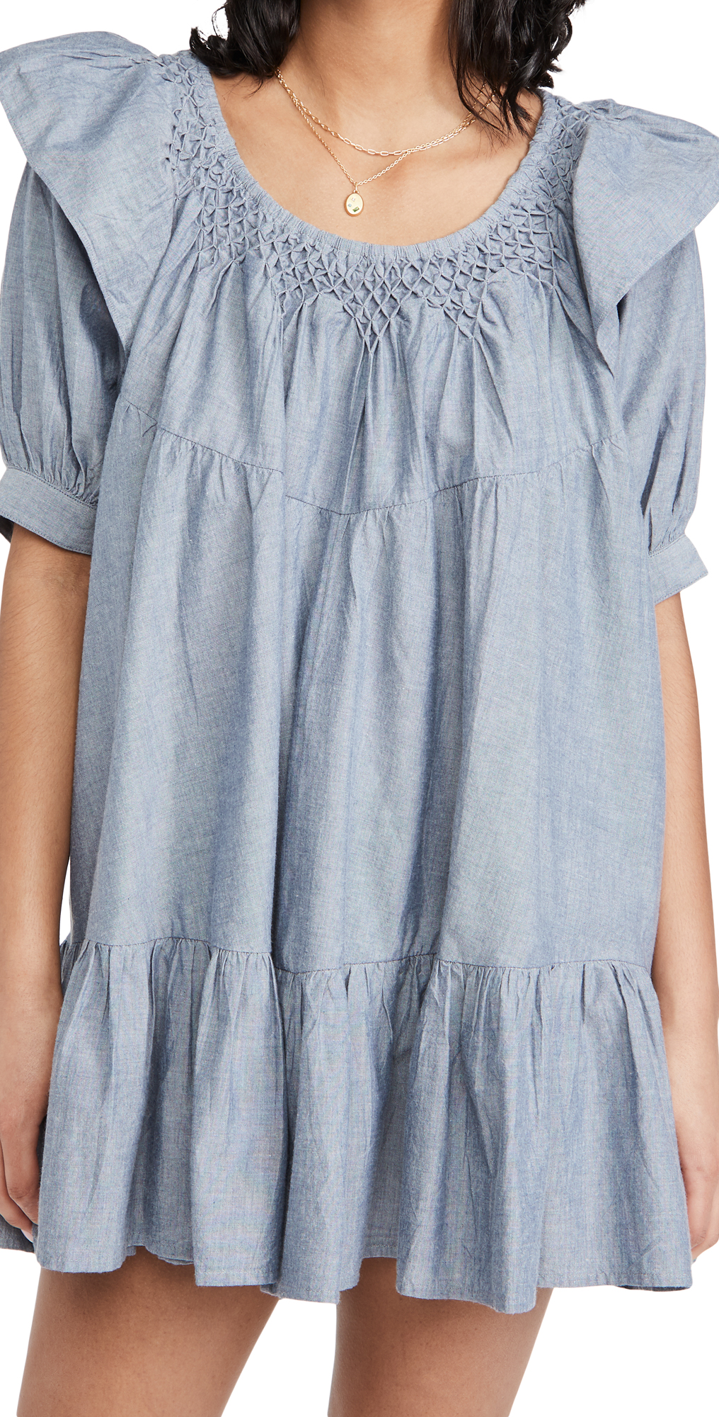 Free People Amelie Mini Dress Denim