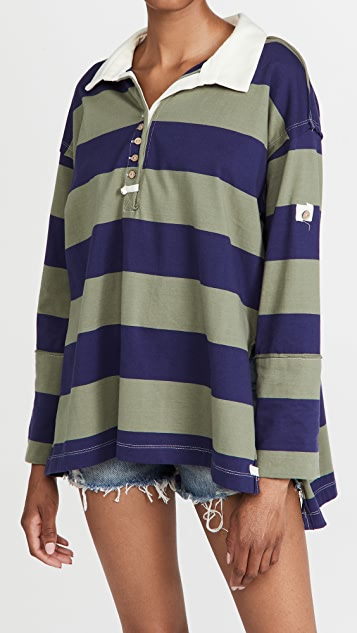 Free People Peyton 橄榄球衬衫