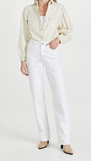 Free People With Love Denim Button Down