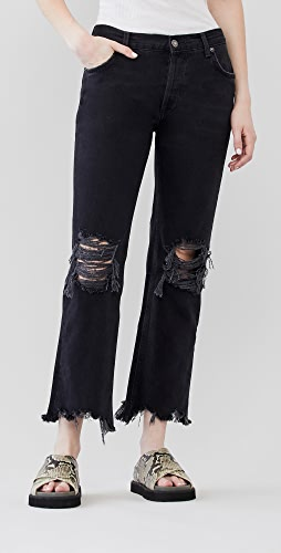 Free People - Maggie Mid Rise Straight Jeans