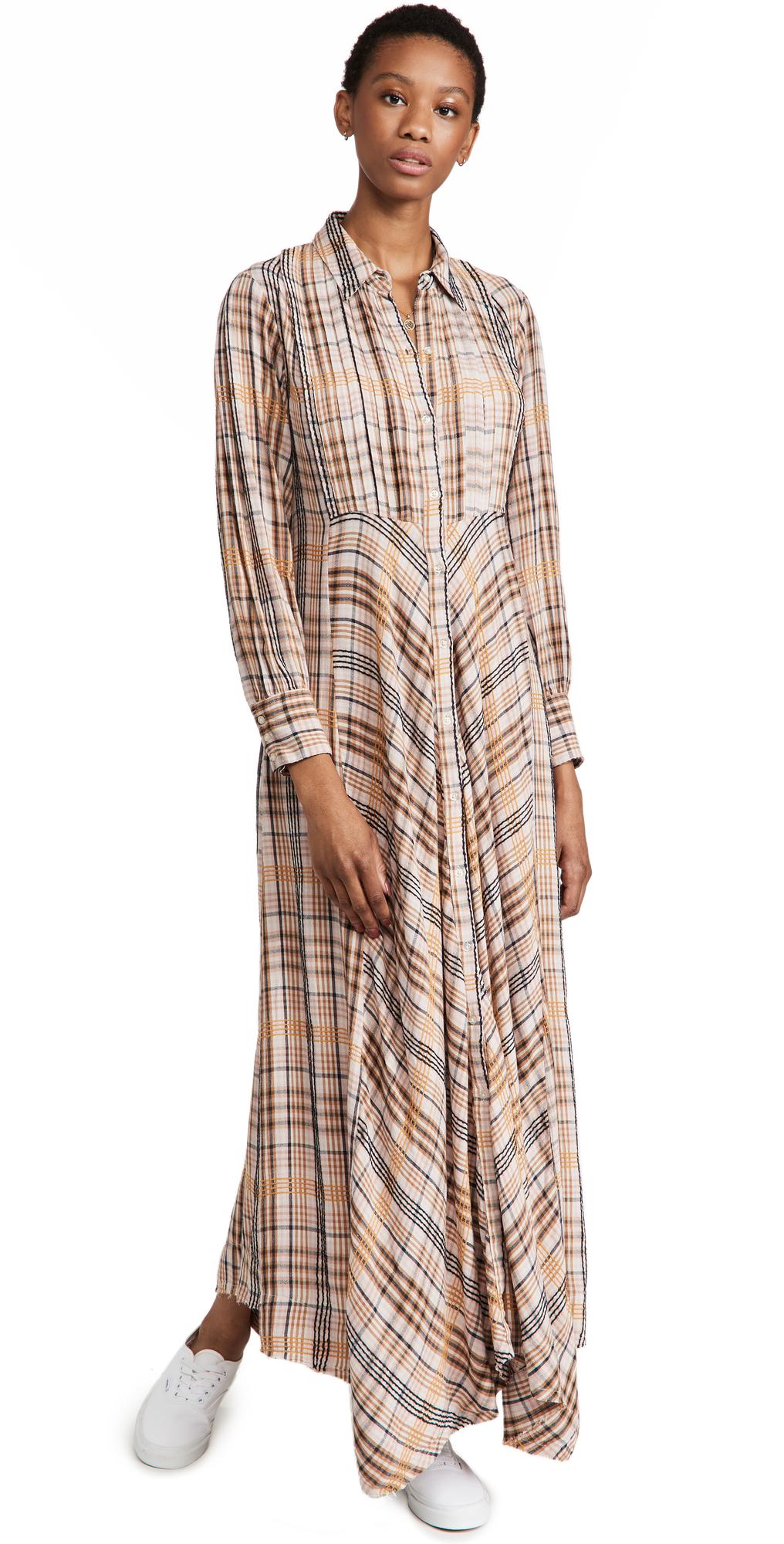 Free People Sadie Plaid Maxi Dress