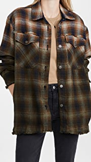 Free People Anneli Plaid Shirt Jacket