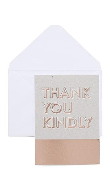 Fringe Boxed Thank You Notes