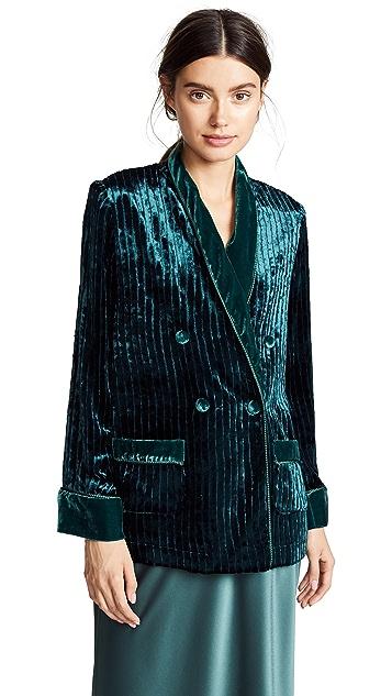 F.R.S For Restless Sleepers Velvet Stripe Blazer