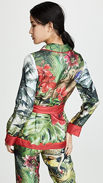 F.R.S For Restless Sleepers Hawaiian Jungle Wrap Blazer